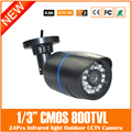 Cmos 800tvl Bullet Camera Waterproof Infrared Light Security Surveillance Mini Black Plastic Cam Freeshipping Hot Sale