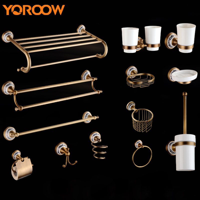 Vintage Style Bathroom Shelf Soap Blow Dryer Toothbrush Broom Holder Toilet Paper Metal Rack Wall Hanging Cup Towel Hook SG0001 wall hanging shelf metal