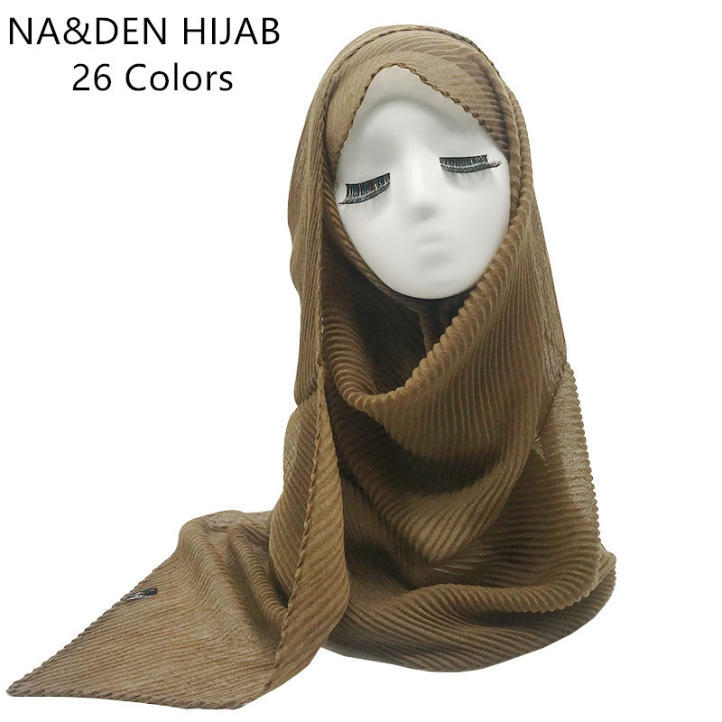 Hot sale solid soft viscose crinkled warm women scarf scarves shawl muslim islam hijabs wraps foulard