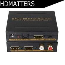 HDmatters 2 порта HDMI Splitter 1X2 с аудио SPDIF/RCA выход 3D и полный HD1080p поддерживается