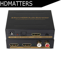 HDmatters 2 port HDMI Splitter 1X2 with audio Spdif/RCA output 3D&full HD1080p supported