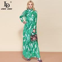 Chiffon Floral Print Bohemian Long + Belted
