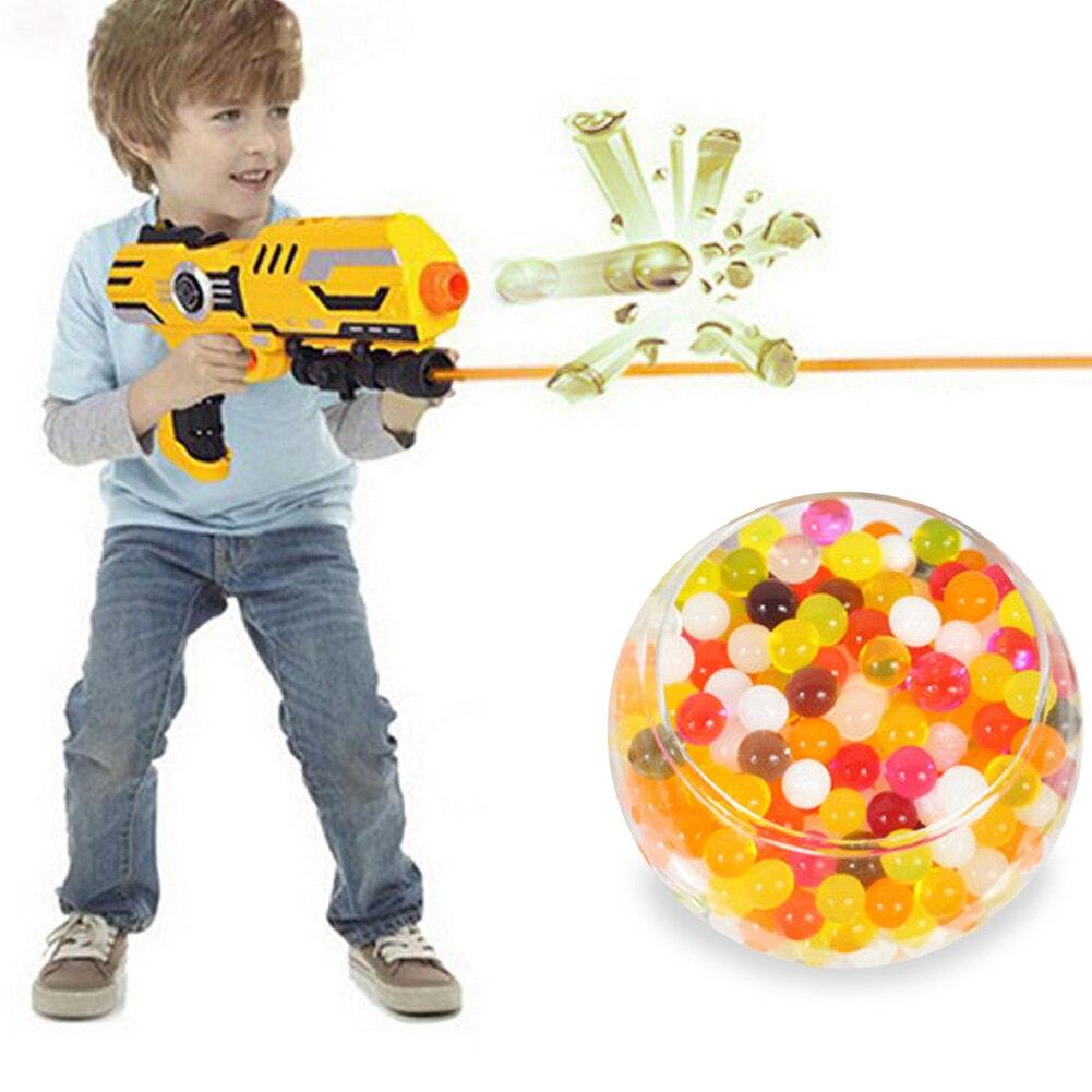 10000 Teile/los Regenbogen Kristall Wasser Paintball Gun Kugel Bälle Darts Pistole Spielzeug Haus Aquarium Topf Dekoration Tiny Bälle