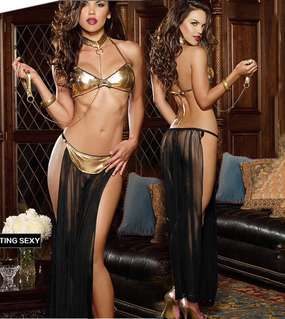 Ensure that the new style hot sexy lingerie female leather mesh quality perspective suit