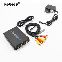 kebidu HDMI to AV and S video Adapter Converter HDMI to 3RCA AV CVBS Composite & S Video Converter Adapter Support 720P/1080P