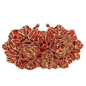 Women party Evening Bags Ladies Flower bride Clutch Handbag Female wedding Crystal Clutches Purses red/black/pink/gold/yellow retro 2017 floral beaded handbag women shoulder bags day clutch bride rhinestone evening bags for wedding party clutches purses