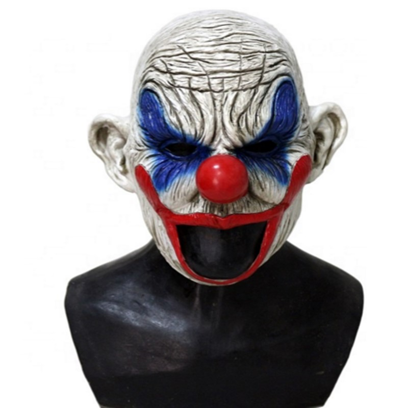 Hot Selling Clooney Henchman Psychotic Crazy Chinless Adult Latex Clown Mask in Party Masks from Home Garden