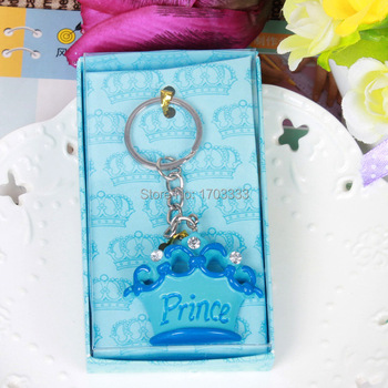 """150pcs """"For You"""" Princess Prince Wedding Gifts Engagement Jewelry Key Chain Novelty Imperial Crown Keychain Gift Box"""