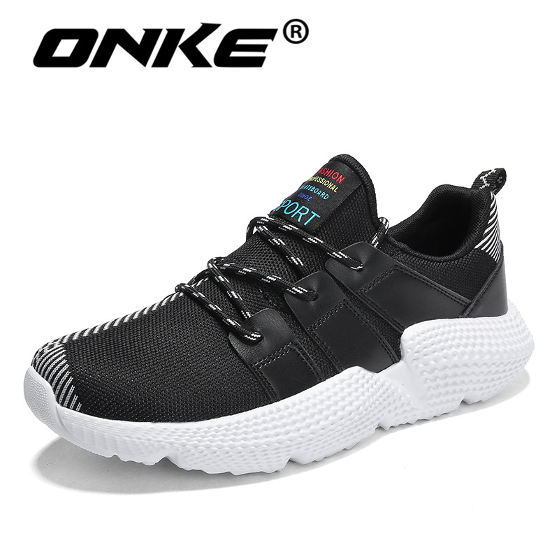 Onke Big Size 7-11.5 Men Sneakers Lightweight Running Shoes for Men Breathable Cushion Sports Man Sneaker Outdoor Jogging Shoe