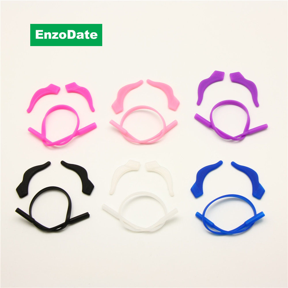 3 Sets Pack Kids Bril Silicone Cord Kinderen Brillen Oor Sloten met hoofdband Strap Retainer Temple Locks