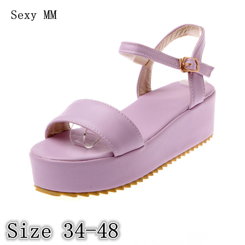 Women Platform Wedge Sandals Low High Heel Shoes Slippers Woman Gladiator Sandals Plus Size 34-40 41 42 43 44 45 46 47 48