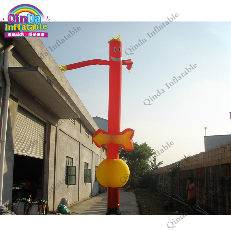 Free air blower inflatable sky dancer, 4m height inflatable dancing man for promotion hot 7 m height smile face free shipping inflatable air dancer sky dancer for event