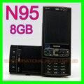 Original nokia n95 8 gb teléfono móvil 3g 5mp wifi gps 2.8 ''de pantalla gsm desbloqueado smartphone ruso teclado teclado árabe