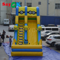 Giant Inflatable Slide 9x4x6m Inflatable Water Slide with Blower for Children or Adult