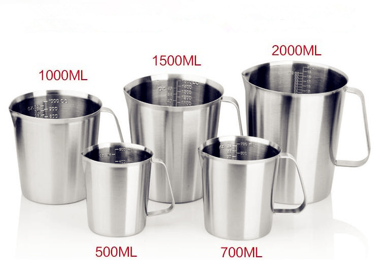 Sanitary Measuring Bottle 500ml---2000ml Measuring Cup High Quality Stainless Steel 304 все цены