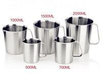 Botella de medición sanitaria 500ml --- 2000ml taza de medición de alta calidad acero inoxidable 304
