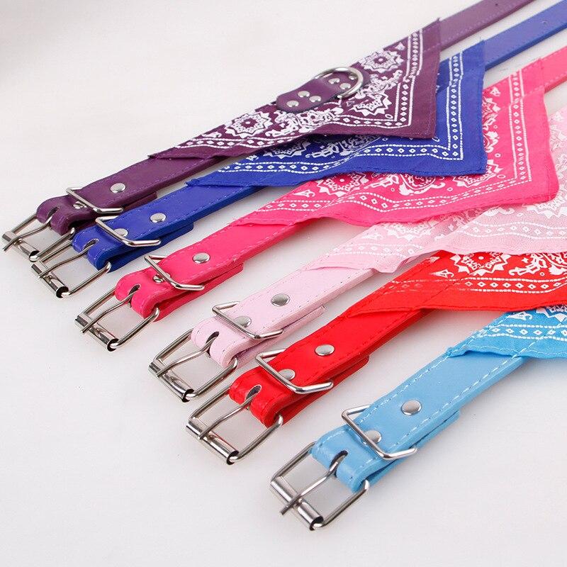 Pet Collar Bell Ethnic Printing Kitten Polyester Nylon Bandana Personalized Adjustable Dog Bib Accessories
