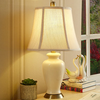 Tuda Free Shipping White Ceramic Table Lamp American Style Table Lamp For Living Room Table Lamp