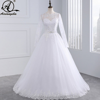 Sexy Lace China Wedding Dresses 2018 A Line Lace Wedding Gowns Romantic Plus Size Vintage Cheap vestido de noiva