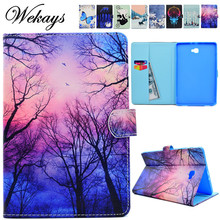 Wekays For Samsung Tab A6 10.1 Flower Leather Case sFor Samsung Galaxy Tab A6 A 6 2016 10.1 T585 T580 T580N Tablet Cover Cases