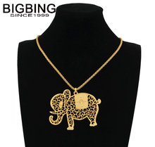 BIGBING fashion jewelry golden chain hollow elephant pendant necklace fashion necklace wholesale jewelry free shipping R079