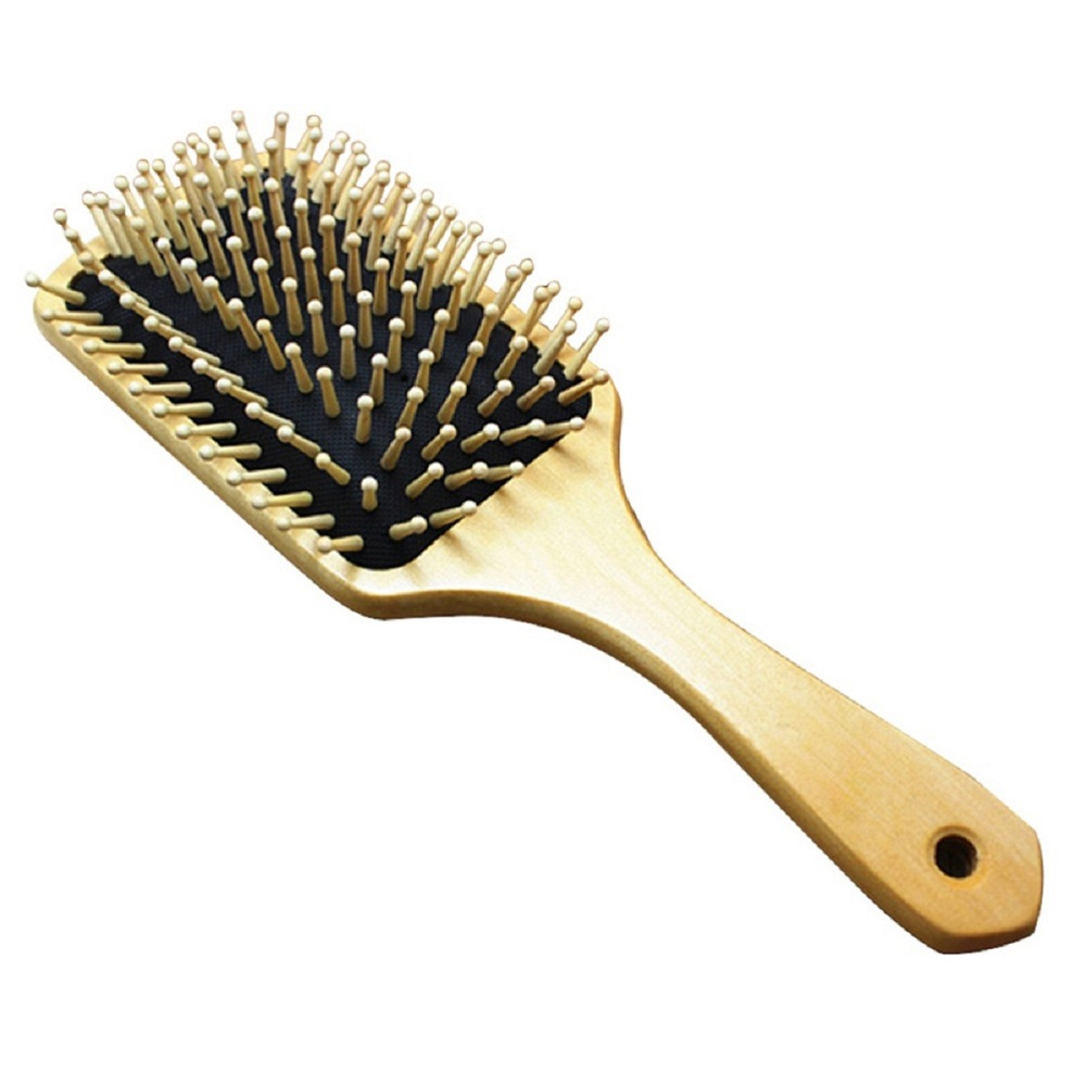 10inch Natural wooden Comb Anti-static Paddle hair brush salon Beauty Care Spa Head Massage make up