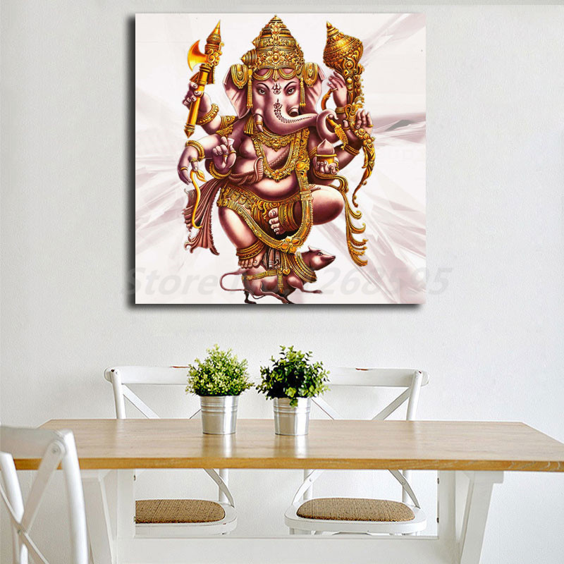 Us 5 7 5 Off Lord Ganesh Ji K Wallpaper Wall Art Canvas Poster And Print Canvas Painting Decorative Picture For Office Living Room Home Decor In