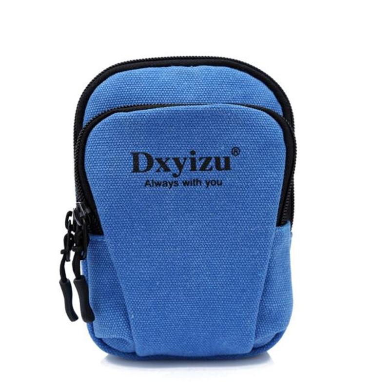 Hot Sale Alphabet Zipper Waist Bag Casual Canvas Waist Bag Hang Package With Hook Large Capacity Bag