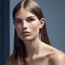Super Brief Fashion Artsy Bulbs 925 Sterling Silver Dangle Earrings For Women Cool Glass Ball Long Earrings Girls Bijoux