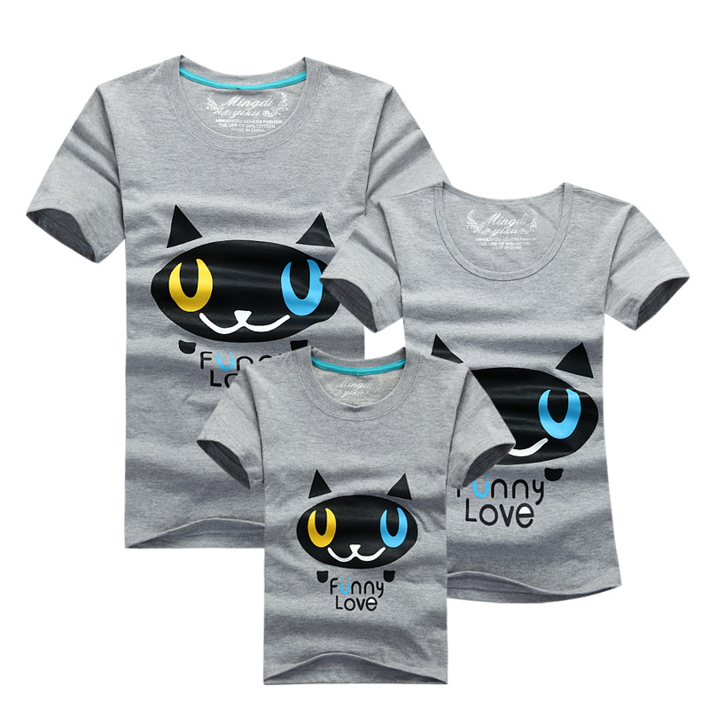 3d14f92896 1Pcs Family Matching Clothes Quality Couple T Shirt Female Male Summer  Short Sleeve Dad Mom T-Shirts Family Cartoon Outfits