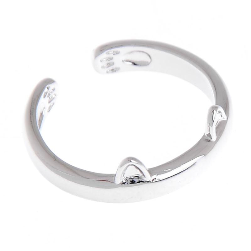 Silver Color Cat Ear Ring 7