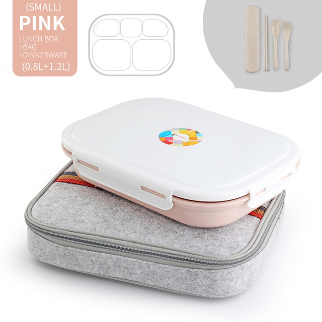 Pink 5 Compart Set Cheap bento boxes japanese bento 5c6479e2ed37e
