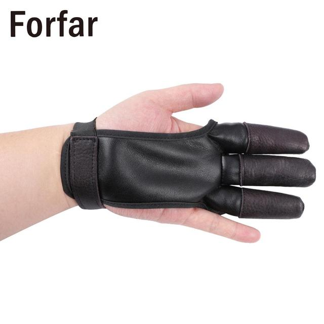 3-Finger Protection Finger Archery  Glove Hunting Bow Soft Bow Glove Outdoor Gadget Bow Arrow Finger