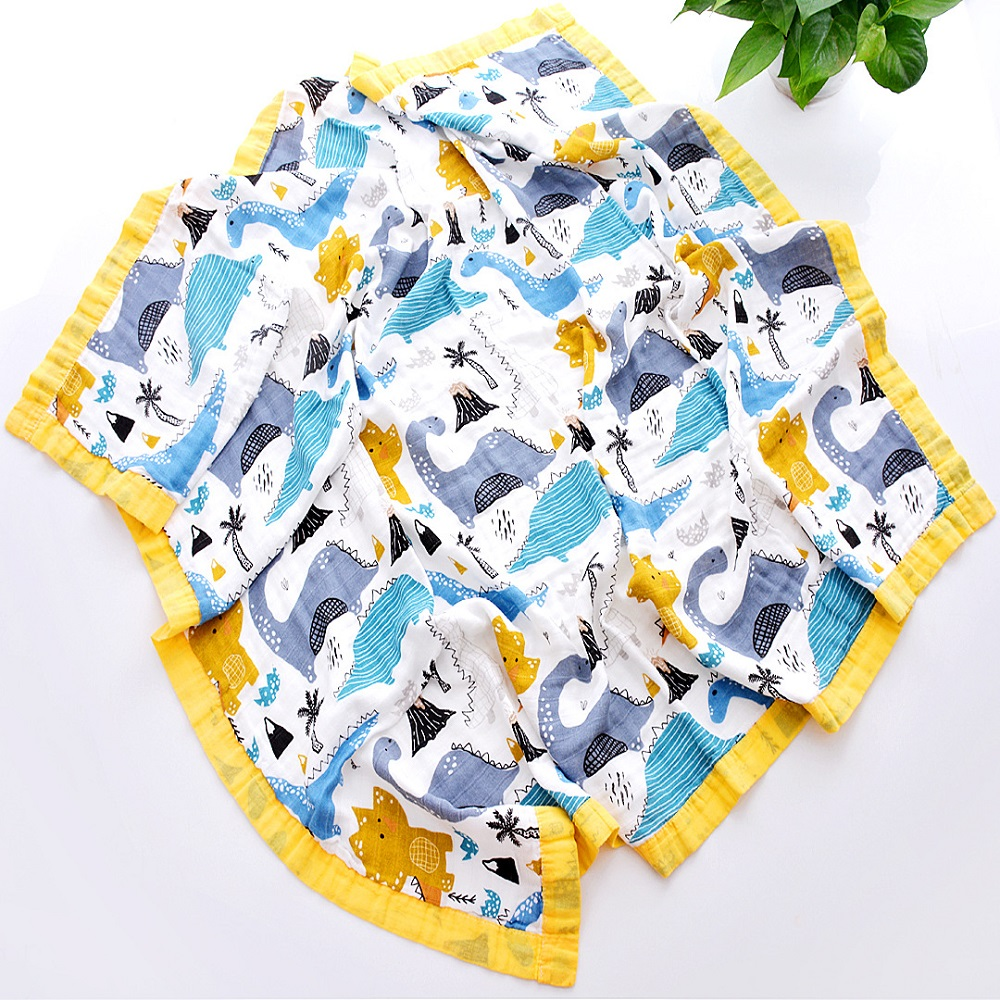 Four Layers 70% Bamboo 30% Cotton Muslin Baby Blanket Swaddle Wrap For Newborn Blankets Swaddling Bedding Bath Towel