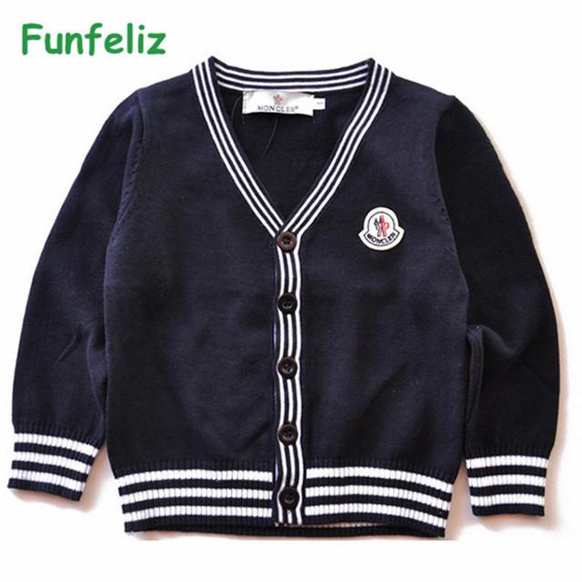 Niños Suéteres de Las Muchachas Cardigans Suéter de Color Sólido para Niños Géneros de Punto 2017 Sprin Otoño Invierno Suéteres de la Rebeca de Los Niños