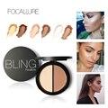 Nuevo Maquillaje Blush Bronzer y Highlighter Corrector de Color de 2 Diff de Bronzer Palette Comestic Maquillaje por Focallure