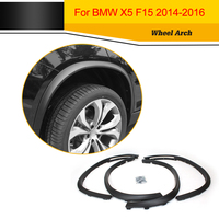 Top Quality PP Style Auto Side Fender Flare Molding Trims Matt Black Car Wheel Arch For