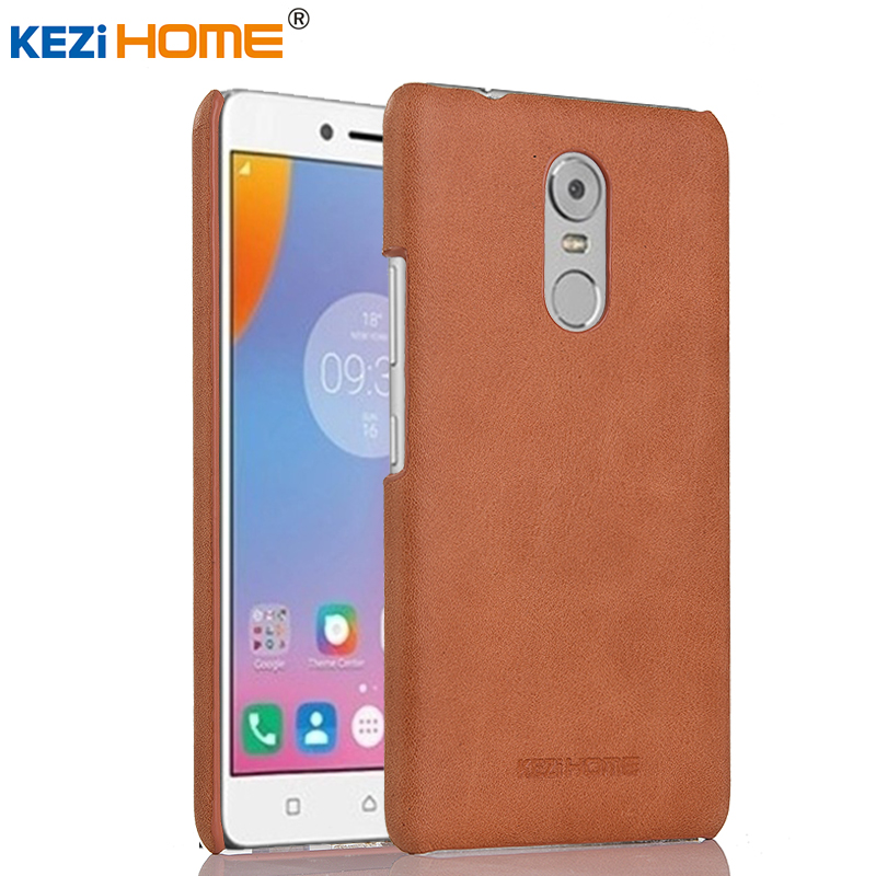 Lenovo K6 Note case KEZiHOME Frosted Genuine Leather Hard Back Cover capa For Lenovo K6 Note Phone Protector cases coque