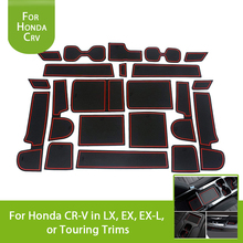 Interior Mouldings Red White Blue Door Groove Mat Cup Mats Coasters Silica Gel For Honda CRV 2017 2018 2019 Accessories