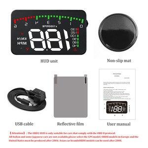 Image 5 - GEYIREN HUD araba A900 OBD2 Head Up ekran hız RPM su sıcaklık araç elektroniği hud obd2 ekran aşırı hız Head Up ekran