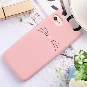 Image 1 - のためのiphone 6 6s 7 8 プラス 5s、se 5Cカップルフワフワケース愛のハートグリッター星幸運の猫ケース動的液体流砂カバー