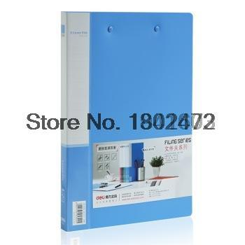 2017 12 Pcs/Lot Deli 5302 A4 Double strong clip file binder document folder for files sorting office school supplies Deli 5302