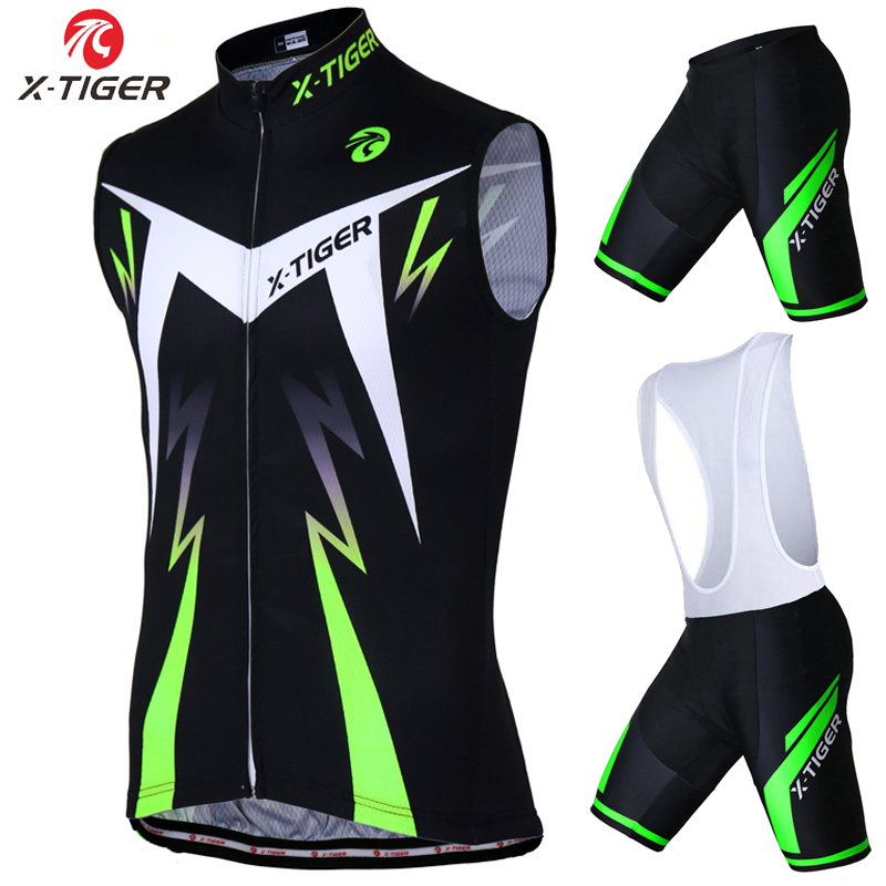 ФОТО X-Tiger 2017 Quick-Dry Sleeveless Cycling Vest Jersey Summer Mountain Bike Clothing Ropa Maillot Ciclismo Racing Bicycle Clothes
