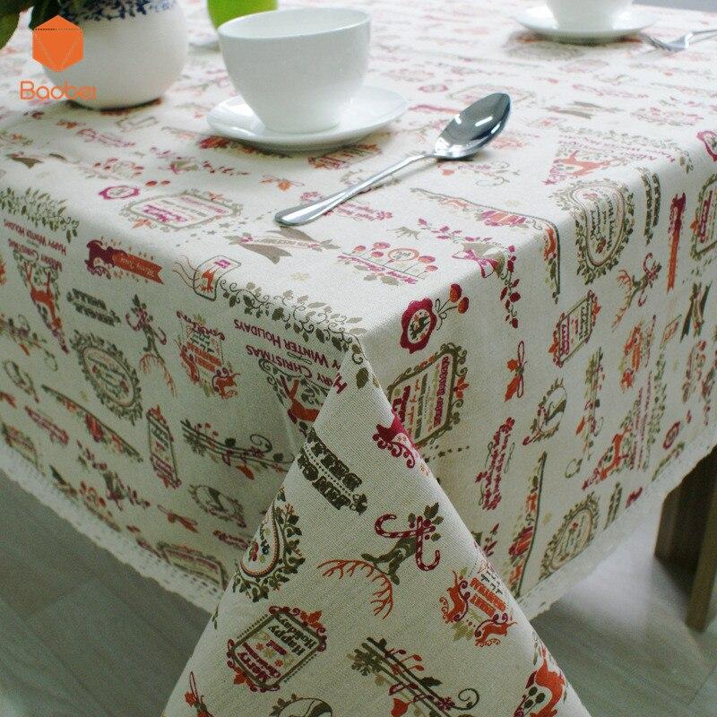 100% Katoen Europa Stijl Herten Tafelkleed Print Rechthoekige Bruiloft Supply Dinning Tafelkleden Cover Home Decor Yn23 Door Wetenschappelijk Proces