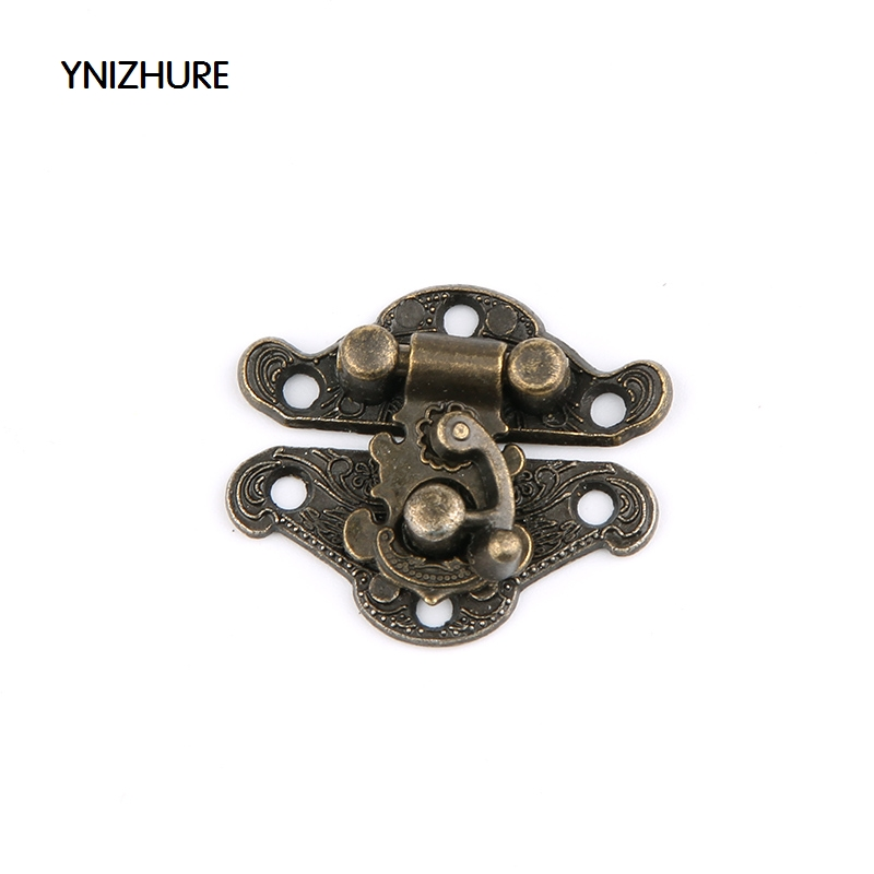 50pcs 27*22mm  Sale Jewelry Box Latches Special Small Box Packing Buckle Antique Wooden Gift Lock Alloy Latch Hook Locks