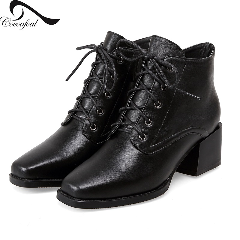 ФОТО Natural leather 2017 Europe the United States latest fashion Hot new Women Ankle Boots Comfortable Office girl Latest trends