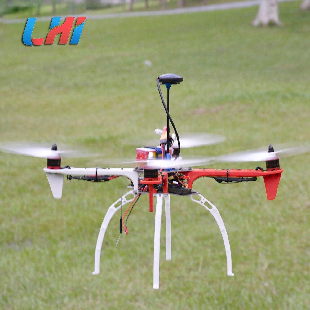 Lhi f450 quadcopter kit quadro rack apm2.6 e 6 m 7 m 8 m gps brushless motor 450 esc 2212 920kv simonk 30a 9443 adereços dron drone