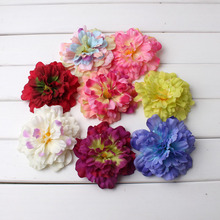 1Pcs 8cm Peony Flower Head Silk Artificial Flowers Party Wedding Decoration DIY Decorative Wreath Fake Plant 2019 Hot