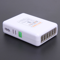 Portable 50W 10A 6 Ports USB HUB Charging Adapter Travel Smart Wall Charger Station With US