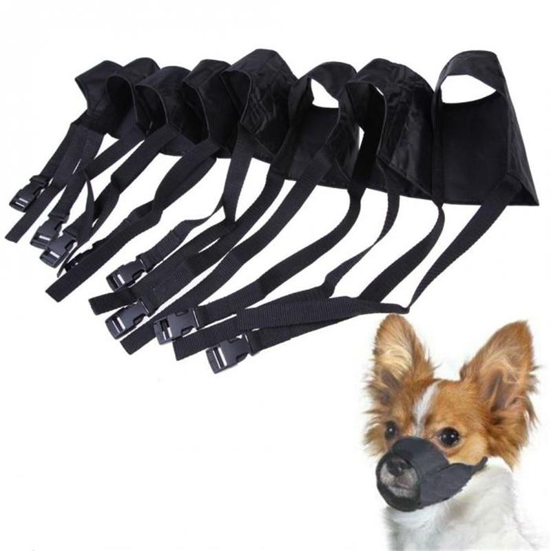 Huisdier Nylon Verstelbare Masker Bark Bite Zachte Mond Snuit Grooming Anti Stop Kauwen Voor Kleine Grote Hond Zwart